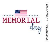 memorial day banner | Shutterstock .eps vector #1045399405