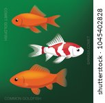 freshwater aquarim goldfish set ... | Shutterstock .eps vector #1045402828