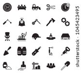 solid black vector icon set  ... | Shutterstock .eps vector #1045423495