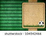 Old paper background football 2012 - stock photo