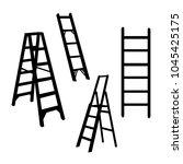 set of ladder vector logo... | Shutterstock .eps vector #1045425175