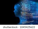 double exposure image of... | Shutterstock . vector #1045425622