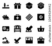 solid vector icon set  ... | Shutterstock .eps vector #1045434442