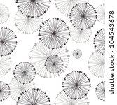 seamless pattern of dandelion | Shutterstock .eps vector #104543678