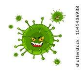 cartoon virus character... | Shutterstock . vector #1045436938