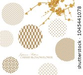 japanese pattern template with... | Shutterstock .eps vector #1045441078
