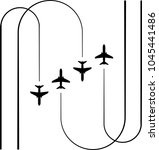 airplane flying formation  air...   Shutterstock .eps vector #1045441486