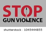 gun violence prevention poster  ... | Shutterstock .eps vector #1045444855