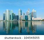 Singapore Skyline Of Business...