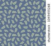 vector green leaves seamless... | Shutterstock .eps vector #1045455268