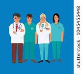 medical personal  doctor  lpn ...   Shutterstock . vector #1045455448