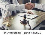 handshake after good... | Shutterstock . vector #1045456522