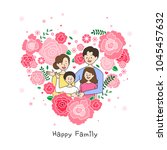 happy family illustration | Shutterstock .eps vector #1045457632