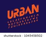 vector of modern abstract font... | Shutterstock .eps vector #1045458502
