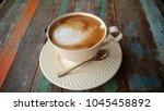 cappucino with hot milk.   Shutterstock . vector #1045458892