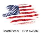 art brush watercolor painting... | Shutterstock . vector #1045460902