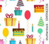 birthday pattern. template of... | Shutterstock .eps vector #1045462336
