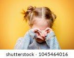 close up portrait of an... | Shutterstock . vector #1045464016