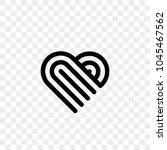 heart logo vector icon.... | Shutterstock .eps vector #1045467562