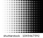radial halftone pattern texture.... | Shutterstock .eps vector #1045467592