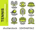 tennis emblem  illustration ... | Shutterstock .eps vector #1045469362