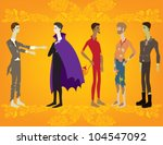 collection of male costumes | Shutterstock .eps vector #104547092