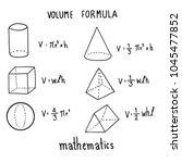 hand drawn of volume fomula set ... | Shutterstock .eps vector #1045477852