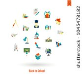 school and education icon set.... | Shutterstock .eps vector #1045478182