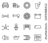 flat vector icon set   car... | Shutterstock .eps vector #1045488412