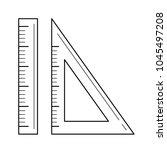 ruler for size measure vector... | Shutterstock .eps vector #1045497208