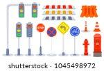 set of traffic element  element ... | Shutterstock .eps vector #1045498972