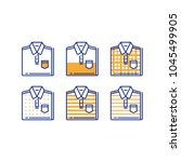 Stock vector folded shirt icon set men wear choice fashion trend casual clothing new collection basic 1045499905