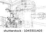 sketch industrial equipment.... | Shutterstock .eps vector #1045501405