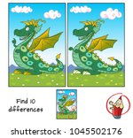 funny green dragon. find 10... | Shutterstock .eps vector #1045502176