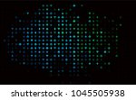 dark blue  green vector cover... | Shutterstock .eps vector #1045505938