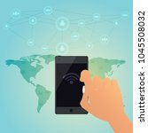 global wifi hotspot connection... | Shutterstock .eps vector #1045508032