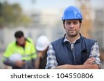 confident foreman on... | Shutterstock . vector #104550806