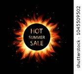 fiery sales. hot summer sale.... | Shutterstock .eps vector #1045509502