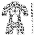 human anatomy figure organized...   Shutterstock .eps vector #1045509556