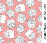 4 styles of cupcake random on...   Shutterstock .eps vector #1045510855