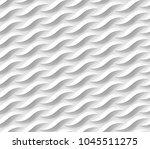 seamless wavelike plastic... | Shutterstock .eps vector #1045511275