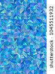 light blue abstract polygonal... | Shutterstock . vector #1045511932