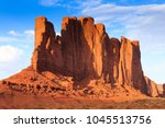 panorama with famous buttes of... | Shutterstock . vector #1045513756