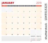 calendar planner template for... | Shutterstock .eps vector #1045515325