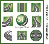 road and direction related... | Shutterstock .eps vector #104551568