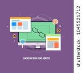 backlink building    seo... | Shutterstock .eps vector #1045521712
