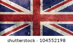 England Flag Painted On Old...