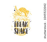 freak shake logo  icon and... | Shutterstock .eps vector #1045522042