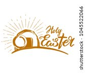 holy easter holiday religious... | Shutterstock .eps vector #1045522066