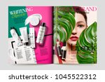 cosmetic magazine ads ... | Shutterstock .eps vector #1045522312